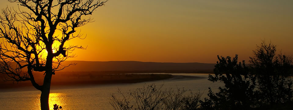 Sunset over the lower Pentecost river